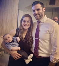 Andrew Ilch with wife Kaitlyn and 4 month old son
