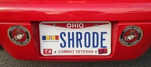 Veteran license plate