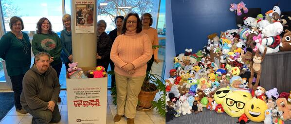 Concordance employees collect toys to spread cheer to local children